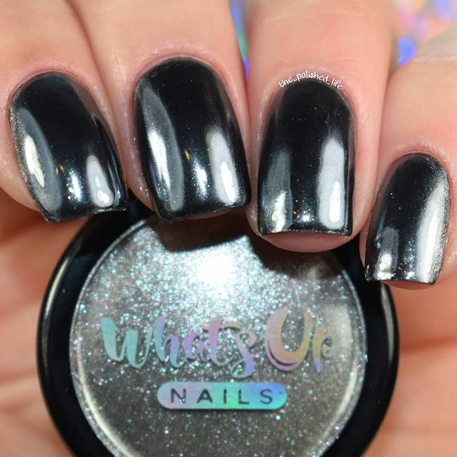 Show Us Your Creations Using Our Black Chrome Powder With The Tags Whatsupnailsblackchromepowder And Whatsupnails For A Chance To Be Featured