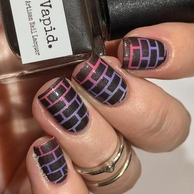 Whats Up Nails - Bricks Stencils | Whats Up Nails
