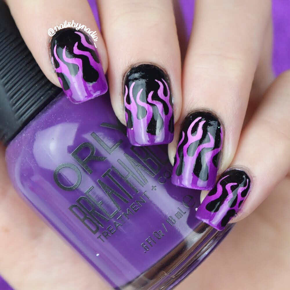Whats Up Nails - Fire Stencils   Whats Up Nails