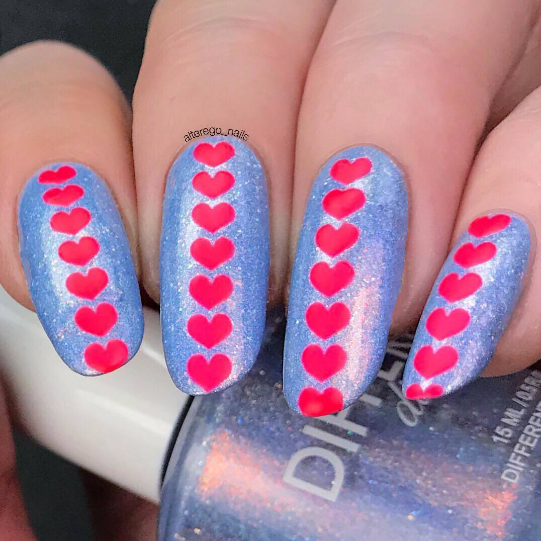 Heart Stack Nail Stencils and Stickers   Whats Up Nails