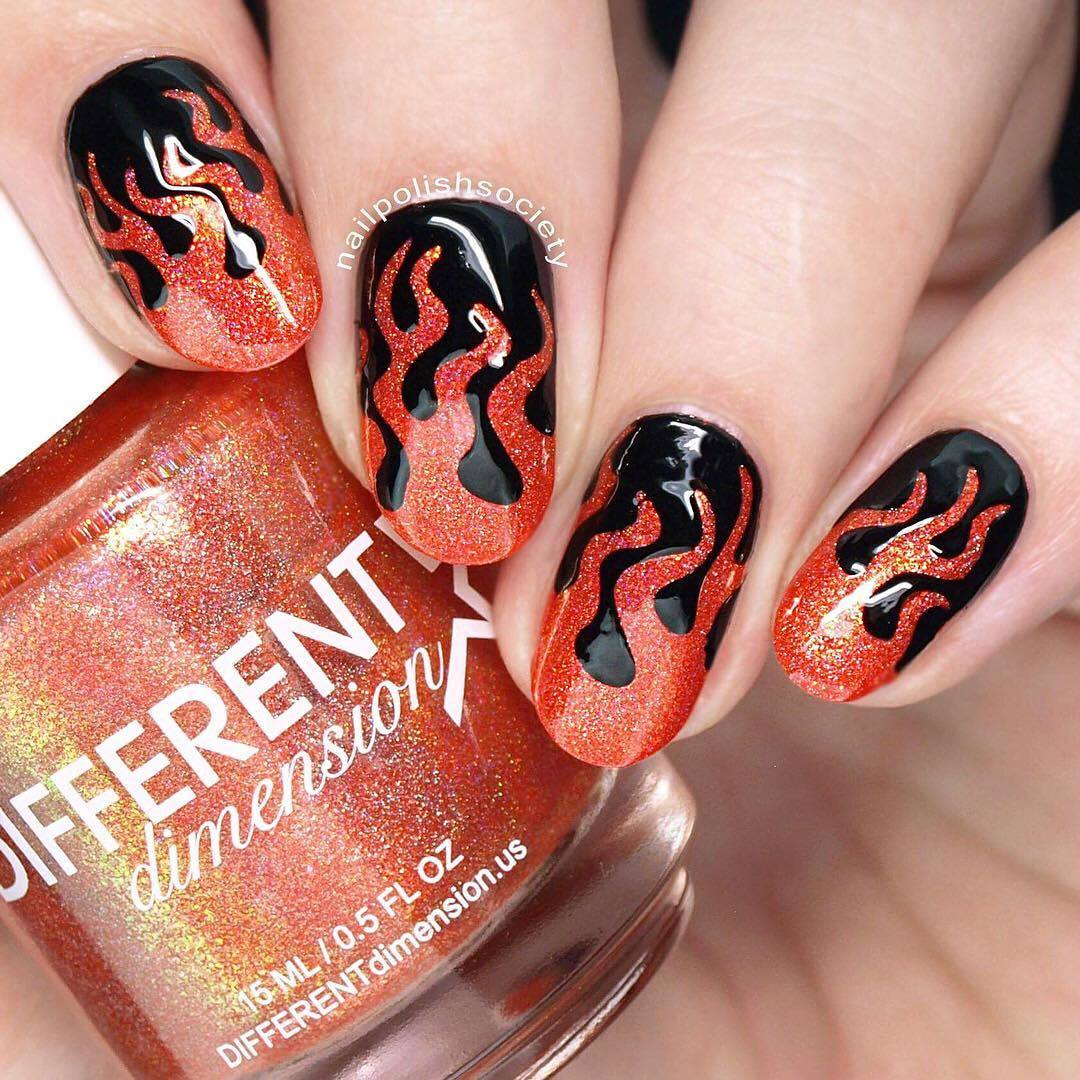 Whats Up Nails - Fire Stencils | Whats Up Nails