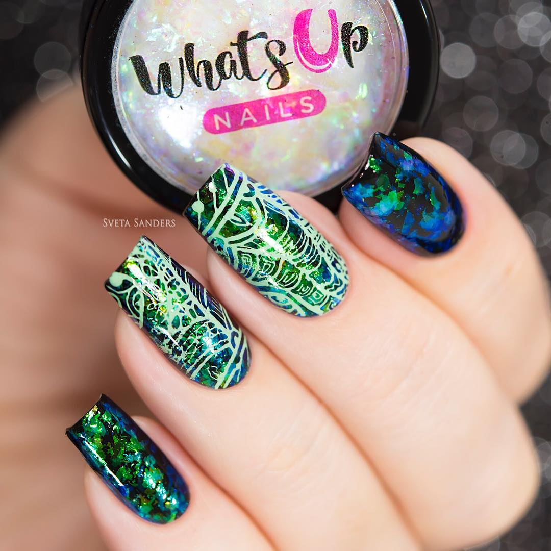 Whats Up Nails - A001 Majestic Flowers   Whats Up Nails