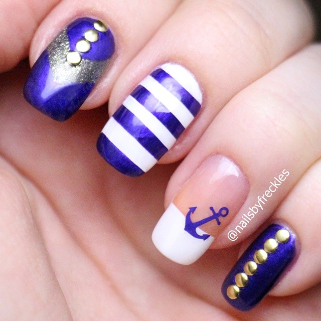 Anchor Nail Stencils and Stickers | Whats Up Nails