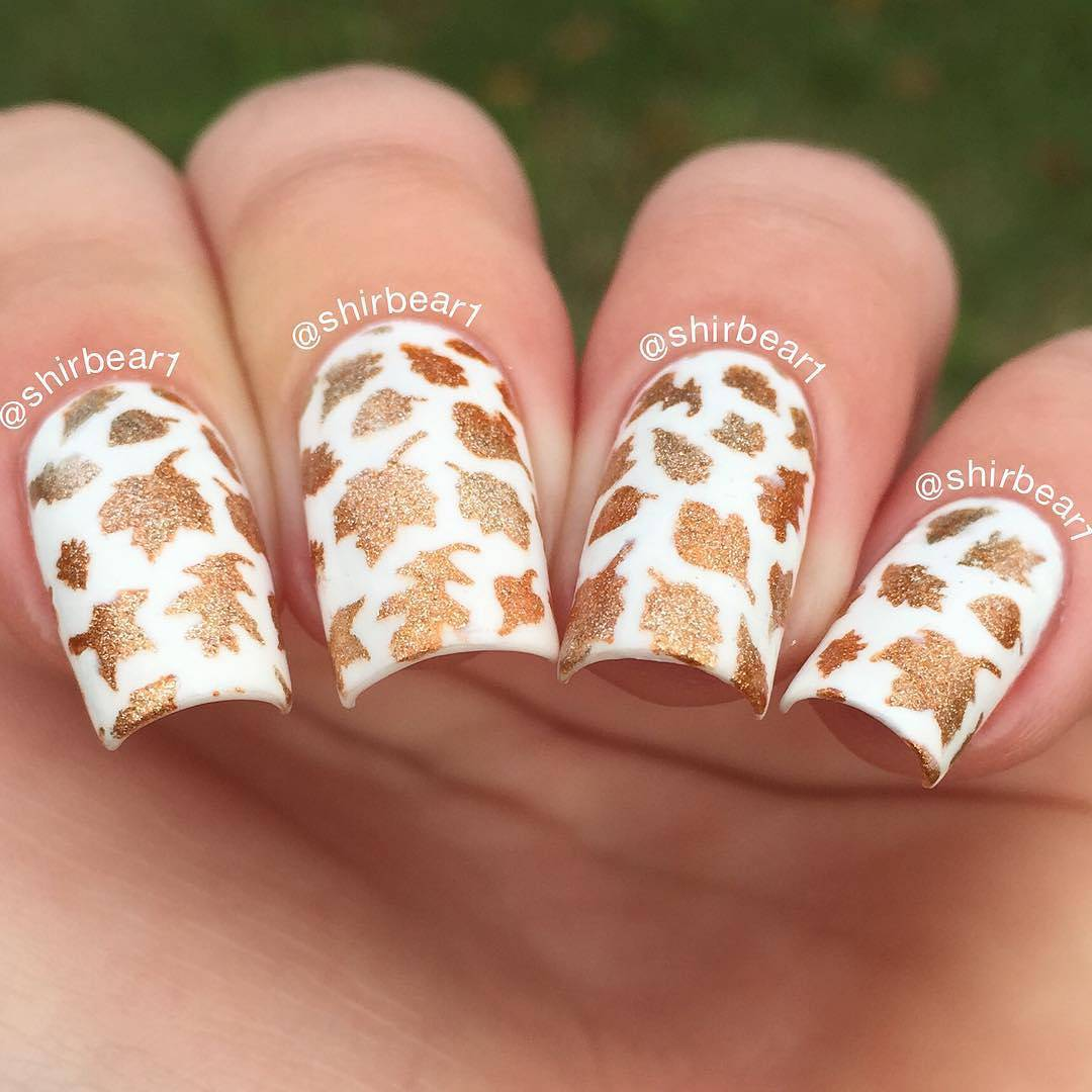 Whats Up Nails - Leaves Stencils | Whats Up Nails