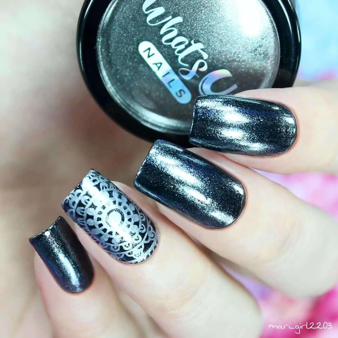 Whats Up Nails - Black Chrome Powder | Whats Up Nails