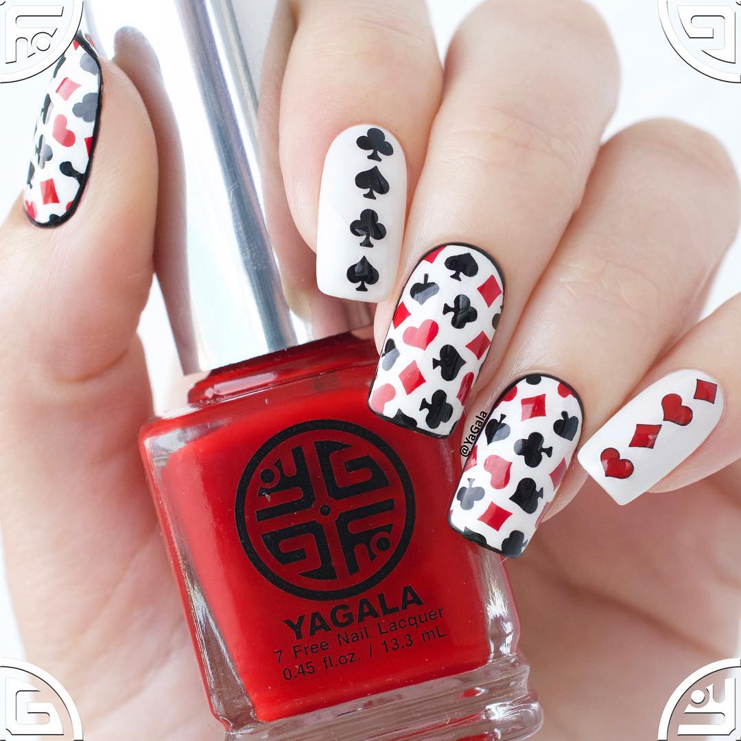 Whats Up Nails - Playing Cards Stencils | Whats Up Nails
