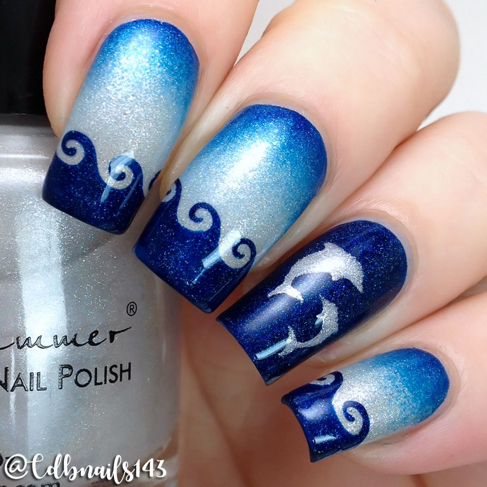 Show us your creations using our 'Dolphins Stencils' with the tags  #whatsupnailsDolphinsStencils and #whatsupnails for a chance to be featured - Whats Up Nails - Dolphins Stencils Whats Up Nails